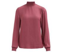 Stehkragen-Bluse pink