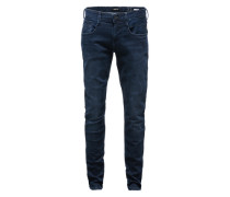 Jeans im Used-Style 'Anbass' dunkelblau