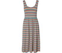 """Hilfiger Denim Kleid """"thdw Stripe Midi Dress S/L 17"""" hellblau / gelb / hellgrün / hellrot"""