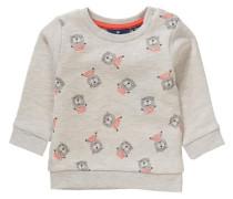 Baby Sweatshirt mit Allover-Druck grau