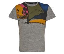 T-Shirt 'skull' grau