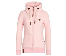 Zipped Jacket 'Redefreiheit? Iii' rosa