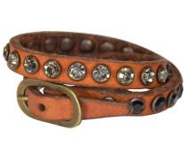 Bonsai Armband Leder 25 cm cognac
