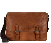 Kansas Messeger Leder 38 cm Laptopfach cognac