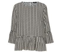 Bluse mit 3/4-Ärmel schwarz / weiß