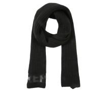 Schal mit Logo-Design schwarz