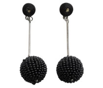 Perlen Ohrringe schwarz