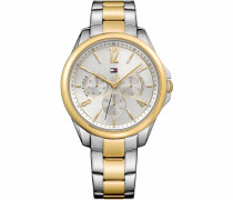 Multifunktionsuhr 'Casual Sport 1781825' gold / silber