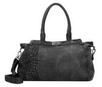 'Wild Life' Handtasche Leder 42 cm schwarz