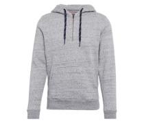 Sweatshirt im Melage-Look graumeliert