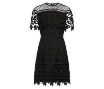 Minikleid mit Spitze schwarz