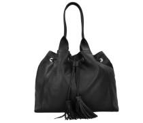 Adria Beuteltasche Leder 40 cm schwarz