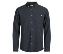 Langarmhemd Detailliertes grau