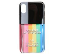 Smartphonehülle für das Apple iPhone 8 'Nailpolish Rainbow' mischfarben