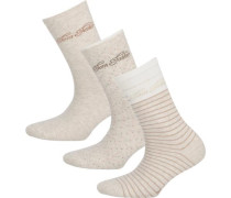 3 Paar Socken beige