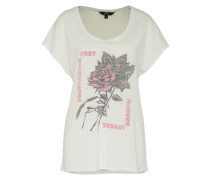 Shirt 'Modern Lovers' weiß / pink