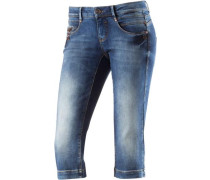 'Alena' 3/4-Jeans Damen blue denim