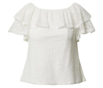 Shirt 'Ivory lace ruffle bardot top'