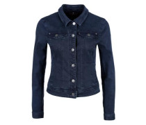 Stretchige Colored Denim-Jacke kobaltblau
