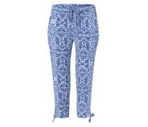 Sommerhose mit Allover-Print blau