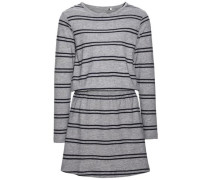 Kleid mit langen Ärmeln nitvelvet graumeliert / schwarzmeliert