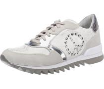 Sneaker mit Applikation grau / silber