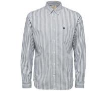Oxford-Langarmhemd taubenblau