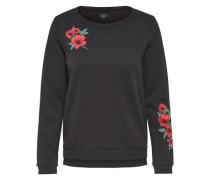 Pullover 'Onlsound' rot / schwarz