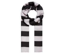 Blockstreifen-Schal schwarz / weiß