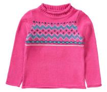 Rollkragenpullover für Mädchen mischfarben / pink
