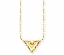 Kette mit Anhänger 'Dreieck' gold