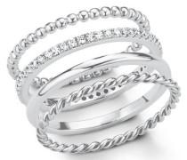 Ring-Set (Set 4 tlg.) silber
