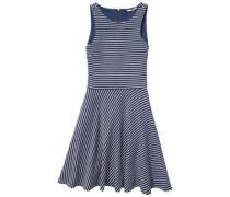 Kleid »Thdw Dress S/L 24« blau / naturweiß