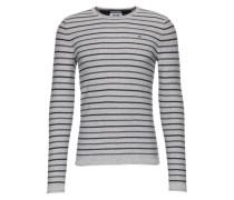 Pullover mit Streifenmuster hellgrau / schwarz