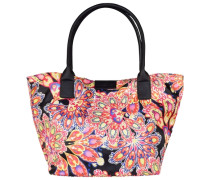Miri Summer Shopper Tasche 43 cm orange / pink / schwarz