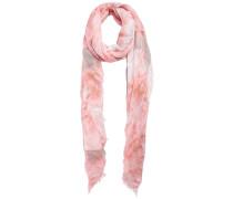Gemusterter Schal pink