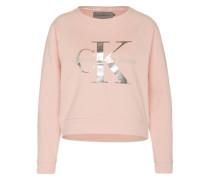Logo-Sweater 'Hanna' rosa / silber