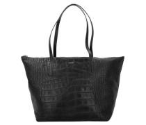 Croco Soft Helena Shopper schwarz