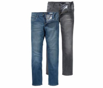 Stretch-Jeans »Willis« (Packung 2 tlg.) blau / grau