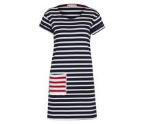 Kleid 'abito IN Jersey Rigato' blau / weiß