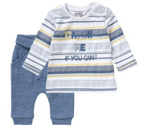 Baby Set Langarmshirt mit Sweathose für Jungen blau