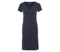 Jerseykleid mit Punkten blau