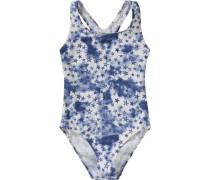 Kinder Badeanzug UV-Schutz 50+ blau / dunkellila / weiß