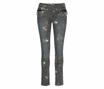 Slim-fit-Jeans 'riva Slim' schwarz