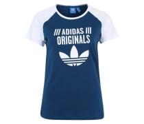 T-Shirt mit Raglanärmeln und Logoprint blau
