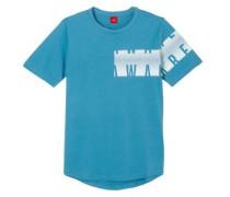 Shirt mit asymmetrischem Print himmelblau