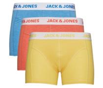 Boxershorts 3er-Pack blau / gelb / rot