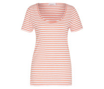 Shirt 'Nobel Tee Stripe 3173' rot / weiß