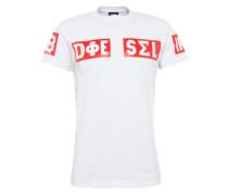T-Shirt 't-Diego-So Hemd' rot / weiß