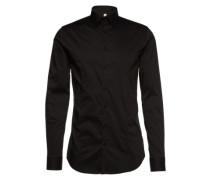 Unifarbenes Hemd 'Stephan' schwarz